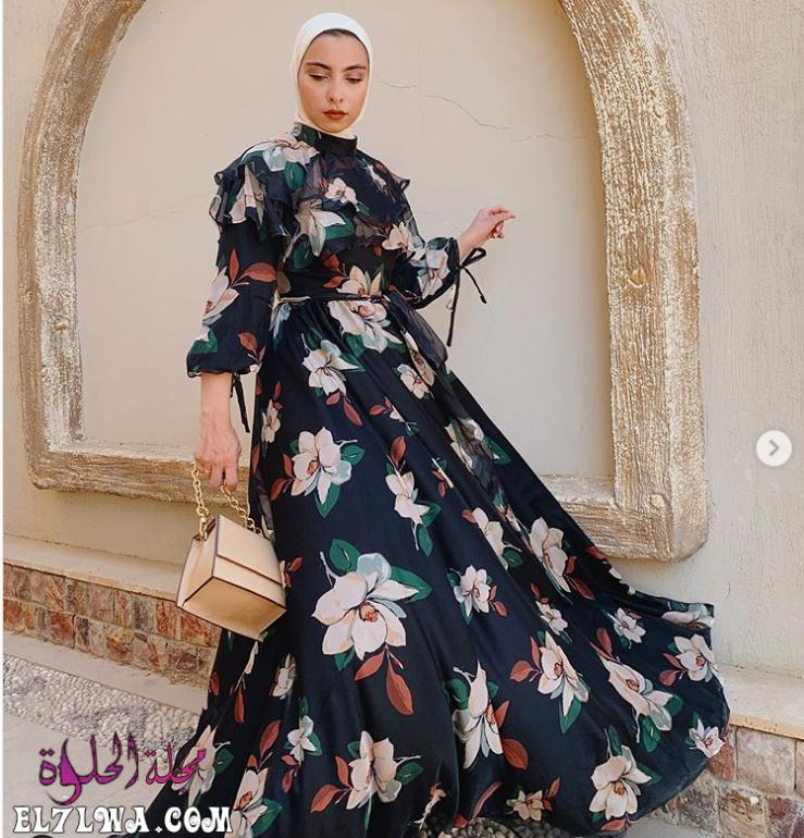 فساتين سهرة محتشمة 2021 صور فساتين محجبات 2021 تبحث المرأة العربية العاشقة للإطلالة المحتشمة والراقية في البح Modest Evening Dress Dresses Formal Dresses Long