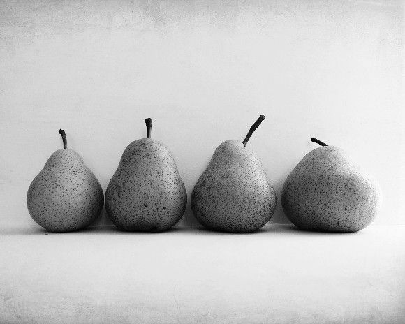 Black and White Photography - four pears fruit photography - zen ...