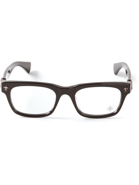 8d19b37cc726 Chrome Hearts Wayfarer Glasses - Monocle - Farfetch.com