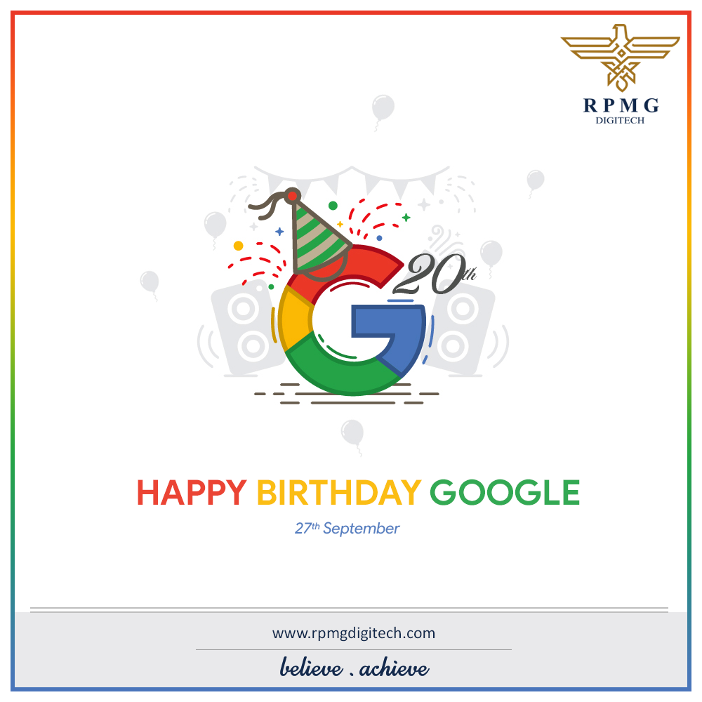 Google turns 20 today! It's amazing how the search engine