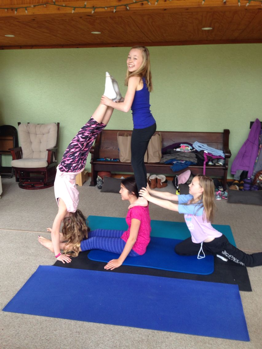 4 Person Yoga Poses : person, poses, Person, Poses,, Gymnastics, Poses