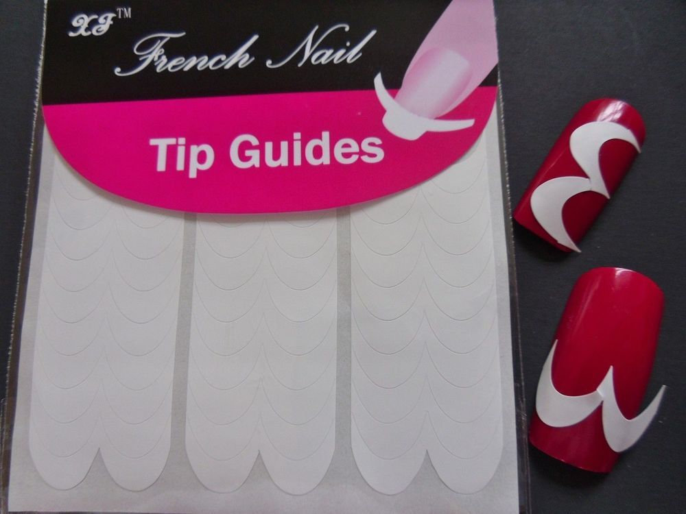 Nail Art French Manicure Guide M Curves Style Tip Manicure Stickers ...