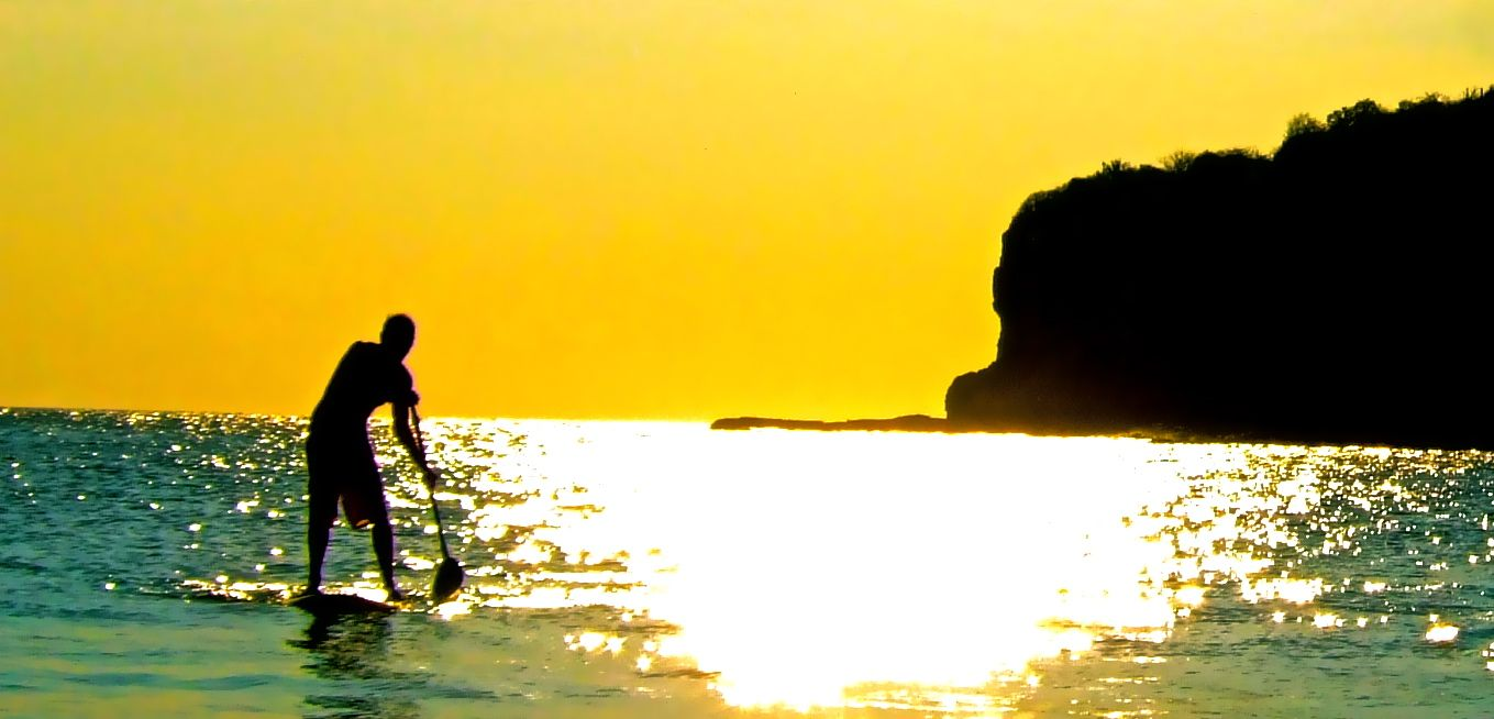 sunset on a SUP