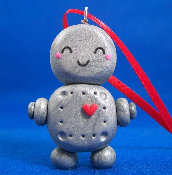 I can make this robot Christmas ornament too!