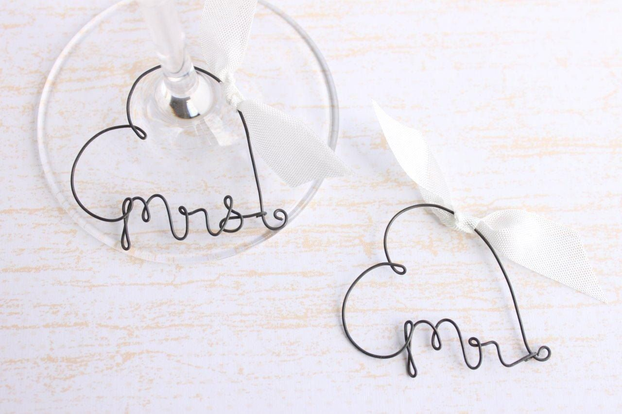 Personalized Wine Glass Charms Wedding Favor Wine by kraze4paper ...