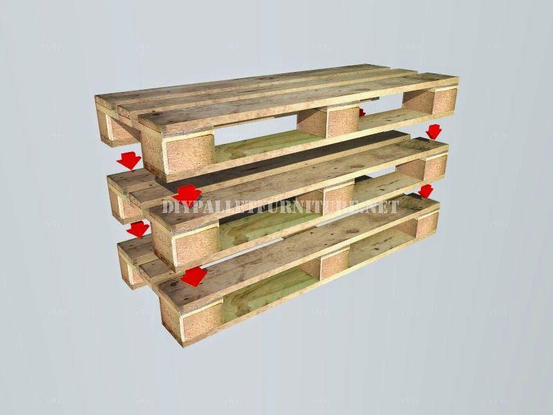 Muebles de palets: Como hacer un banco con palets paso por paso ...