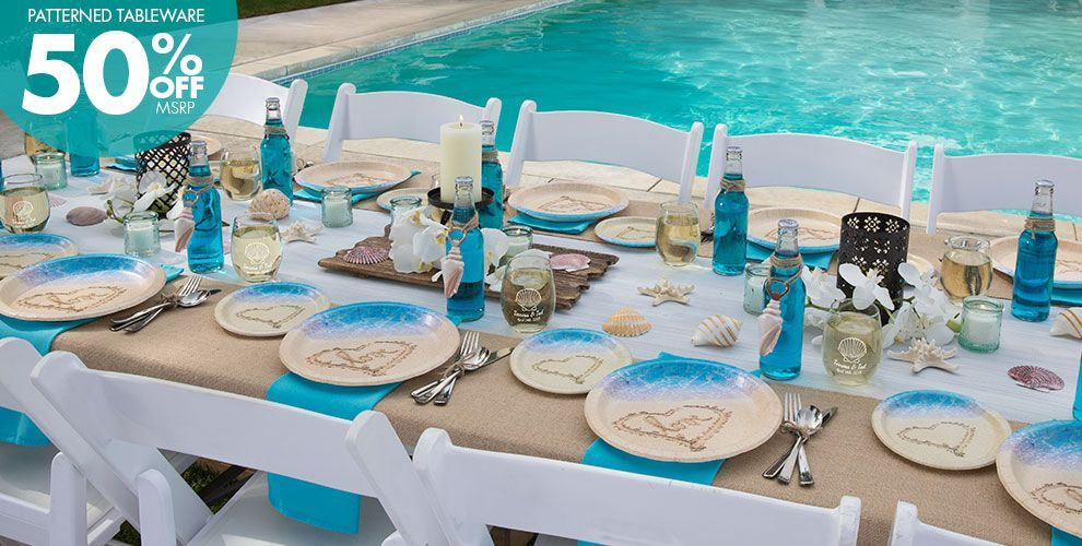 Beach Love Engagement Party Supplies Party City Engagement