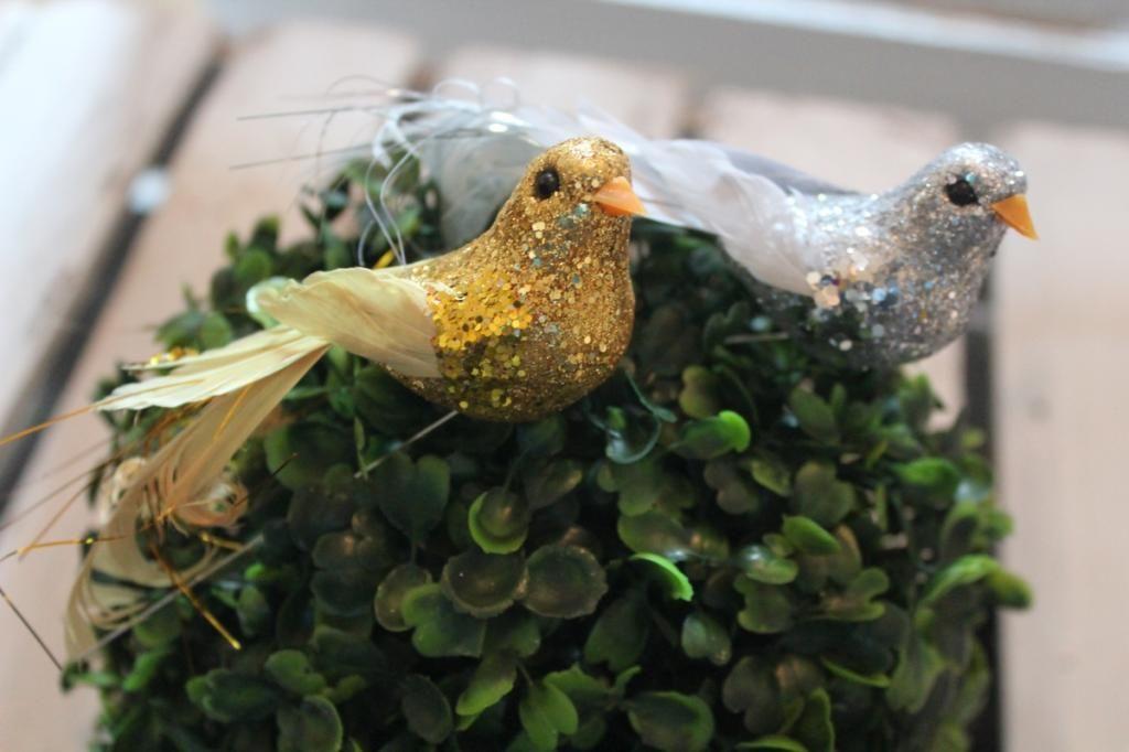 Ozdoby Choinkowe Ptaszki 11 Cm 3szt Zloty Srebrny 4800089629 Oficjalne Archiwum Allegro Outdoor Decor Bird Feeders Bird