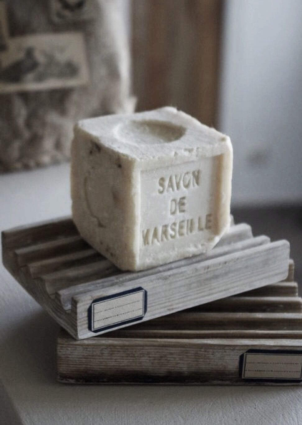 Some beautiful french bath soaps down the drain for French drain collection box