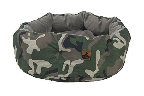 K9 Ballistics Deep Den Dog Bed Green Camo Ripstopbrindle Velvet Large 36x28x10 You Can Find More Details By Visiting The Im Dog Bed Round Dog Bed Green Camo