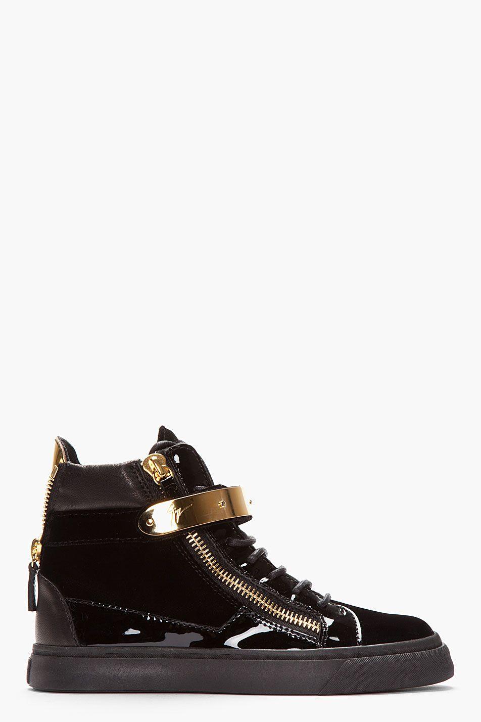 6b9cc191b36f8 GIUSEPPE ZANOTTI Black velvet Veronica Sneaker | my style | Sneakers ...