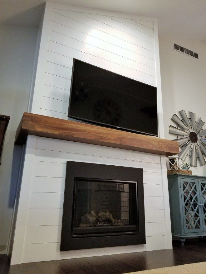 DIY Shiplap Fireplace Project | Inspired to Revamp