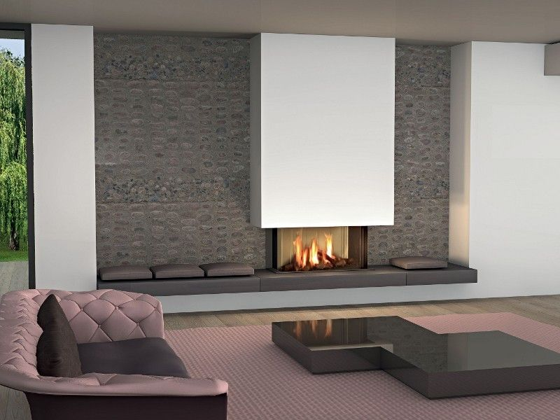 Modern fireplace on the wall modern fireplaces for for Interior fireplaces designs