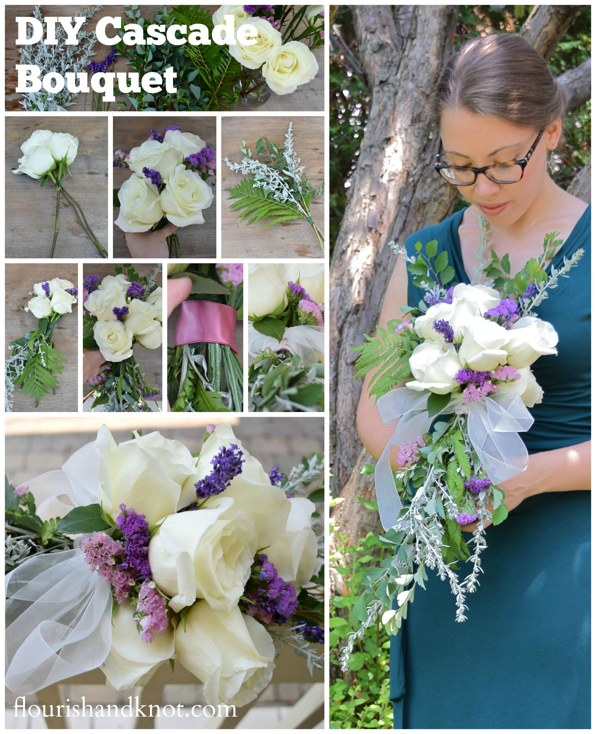 Making A Wedding Bouquet With Silk Flowers: How To Create A Cascade Bouquet