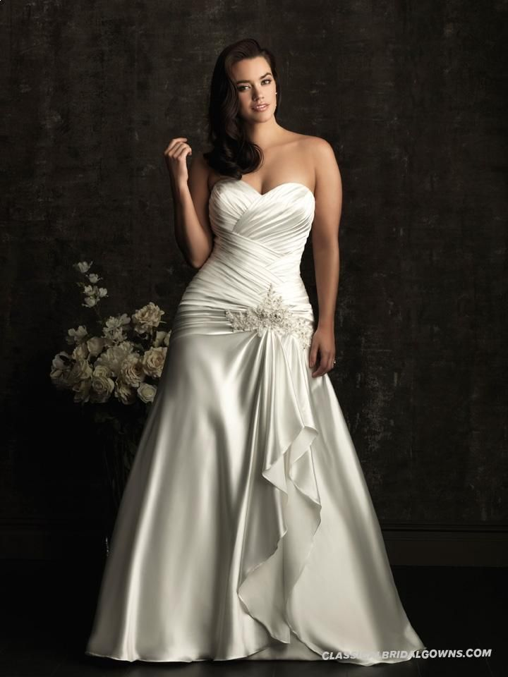 Get Beautiful Allure Wedding Dresses Style W302 Beautiful Plus