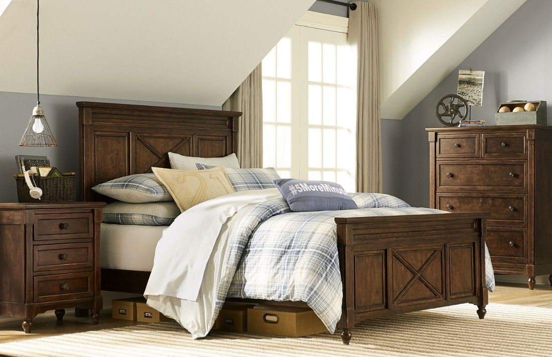Legacy Classic Kids Highlands Panel Bedroom Set   Saddle Brown Finish