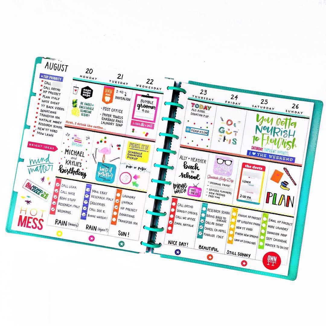 Pin on Happy Planner Classic ideas