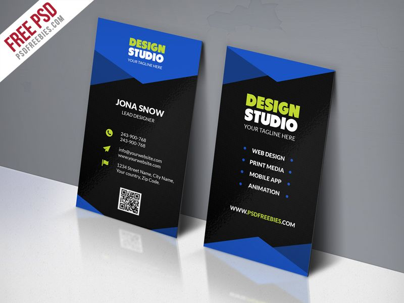 Design Studio Business Card Template Free Psd Psd Print Template