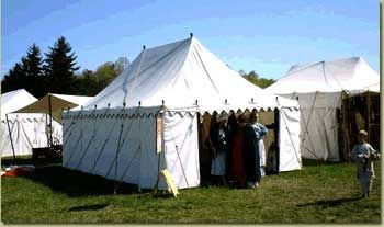 Rectangular Marquee Tents (Tentsmith dates this from Roman through Medieval and well into 19th & Rectangular Marquee Tents (Tentsmith dates this from Roman ...