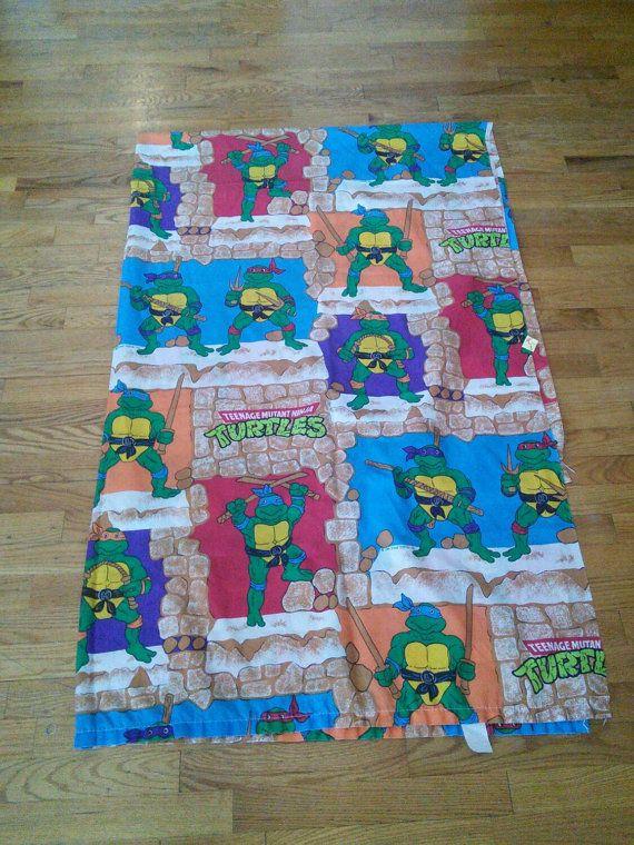 Teenage Mutant Ninja Turtles Twin Bed Sheet 1980 S Tmnt Etsy Twin Bed Sheets Vintage Bed Twin Bed