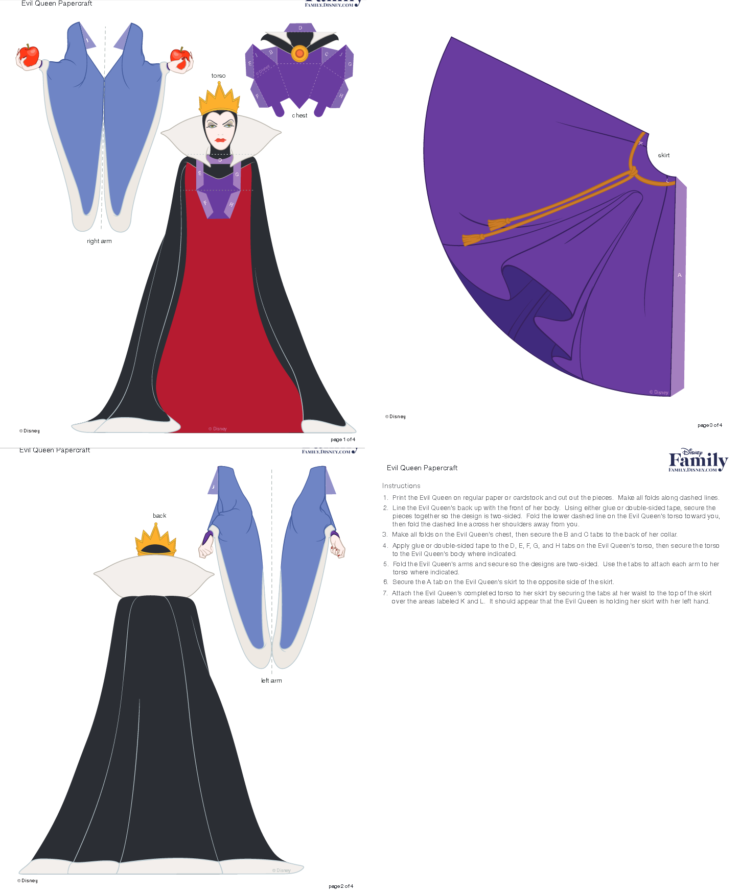 http://family.disney.com/craft/evil-queen-papercraft ... - photo#17