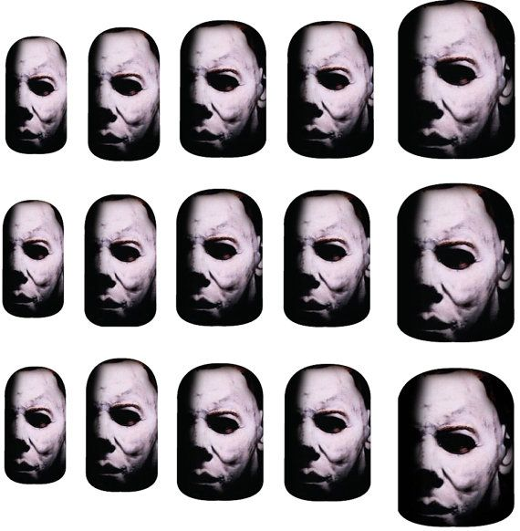Michael Myers Halloween Nail Art Decals by NailSpin on Etsy | My ...