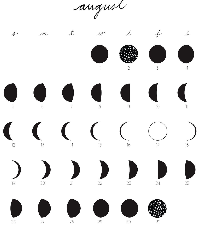 Lunar Calendar August