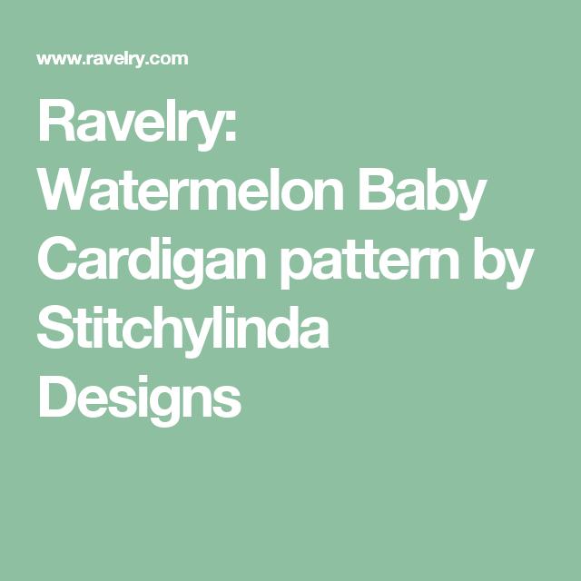 d29e912abc23e1 Ravelry  Watermelon Baby Cardigan pattern by Stitchylinda Designs ...
