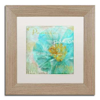 Color Bakery 'Blue Peony Light' Matted Framed Art, 11 x 11 #bluepeonies