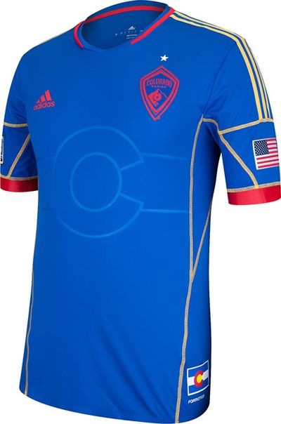 7f7788932 When the Rapids are away from Denver, they wear these stylish road jerseys.