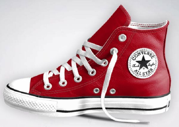 Chuck Taylor Red Leather Hi-Tops, you