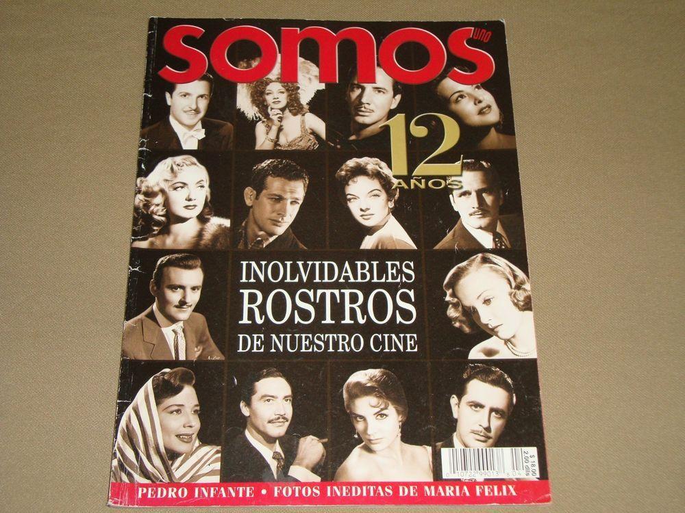 Inolvidables Rostros De Nuetro Cine 12 Años Revista Somos 2002 Mexican Edition