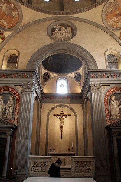 Filippo brunelleschi e donatello sagrestia vecchia 1428 for Sagrestia vecchia