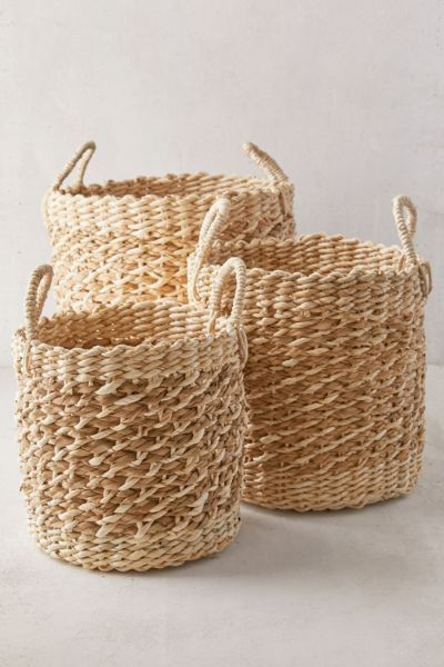 Urban Outfitters Aimee Basket Set Of 3 Basket Wicker Decor