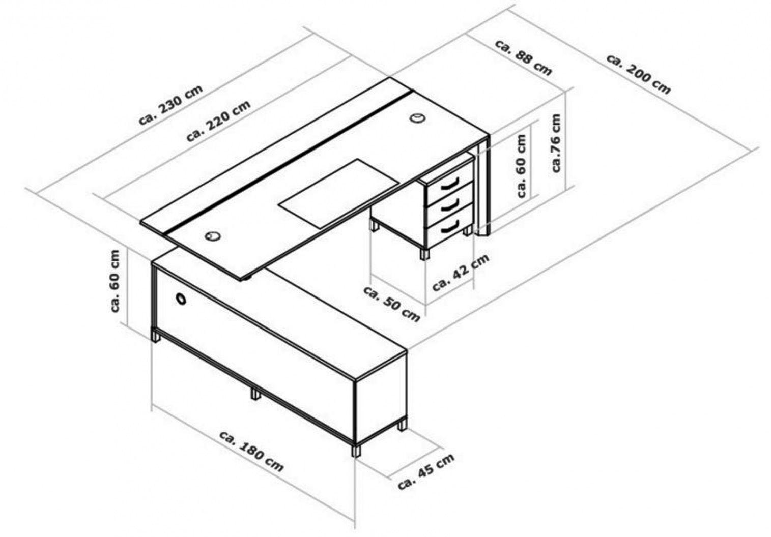 Average Size Of Home Office Desk | Office furniture desk ... |Office Standard Desk Size