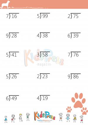 Divide 2 Digit Dividend By 1 Digit Divisor With Remainders Kidspressmagazine Com Division Worksheets Remainders Math Division