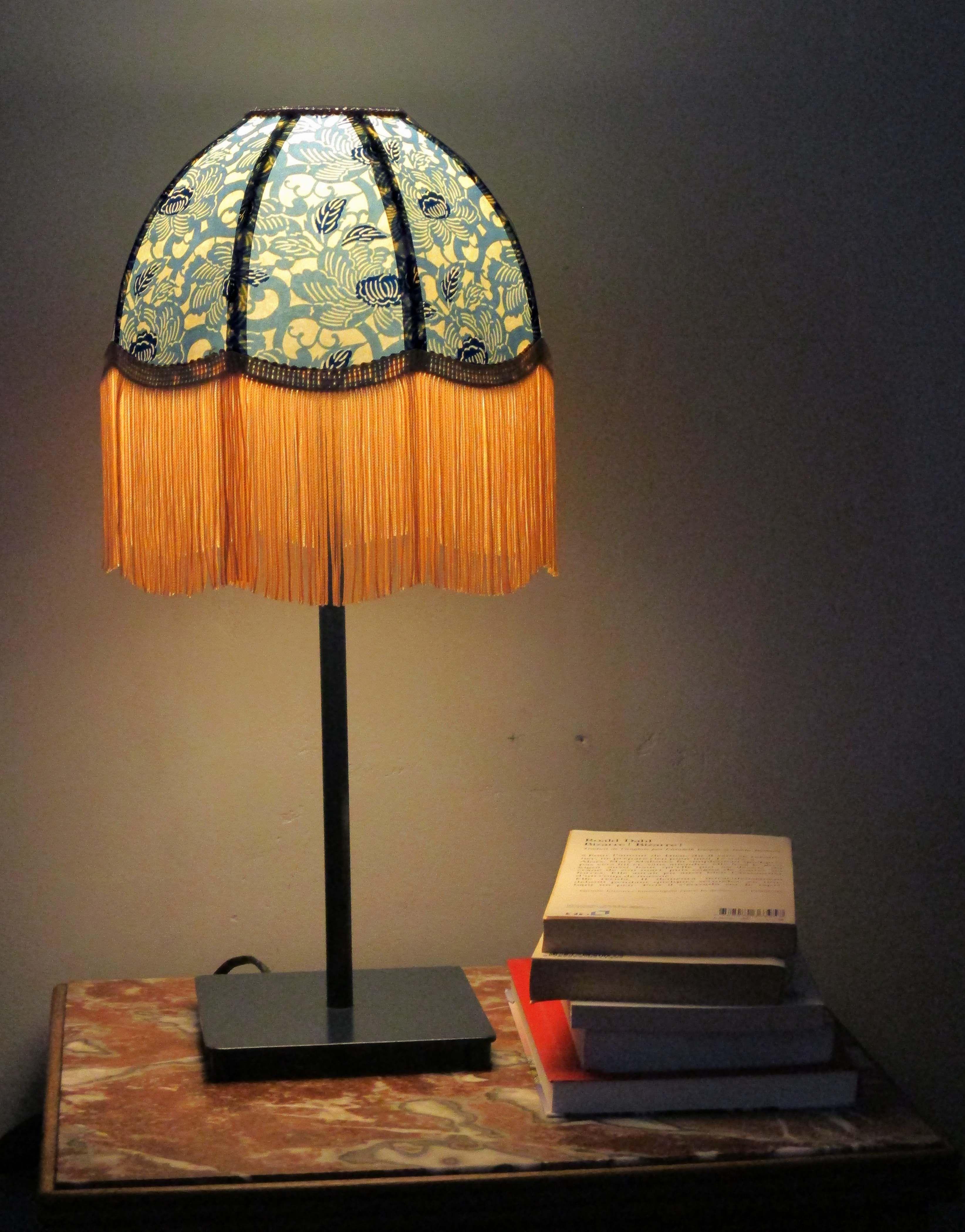 """Abat Jour Tulipe Tissu lampe de chevet rétro, abat-jour papier japonais """"fleurs de"""