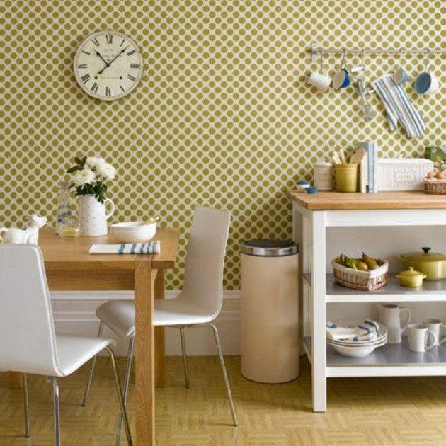 20 preciosos papeles pintados para la cocina | Papel pintado ...