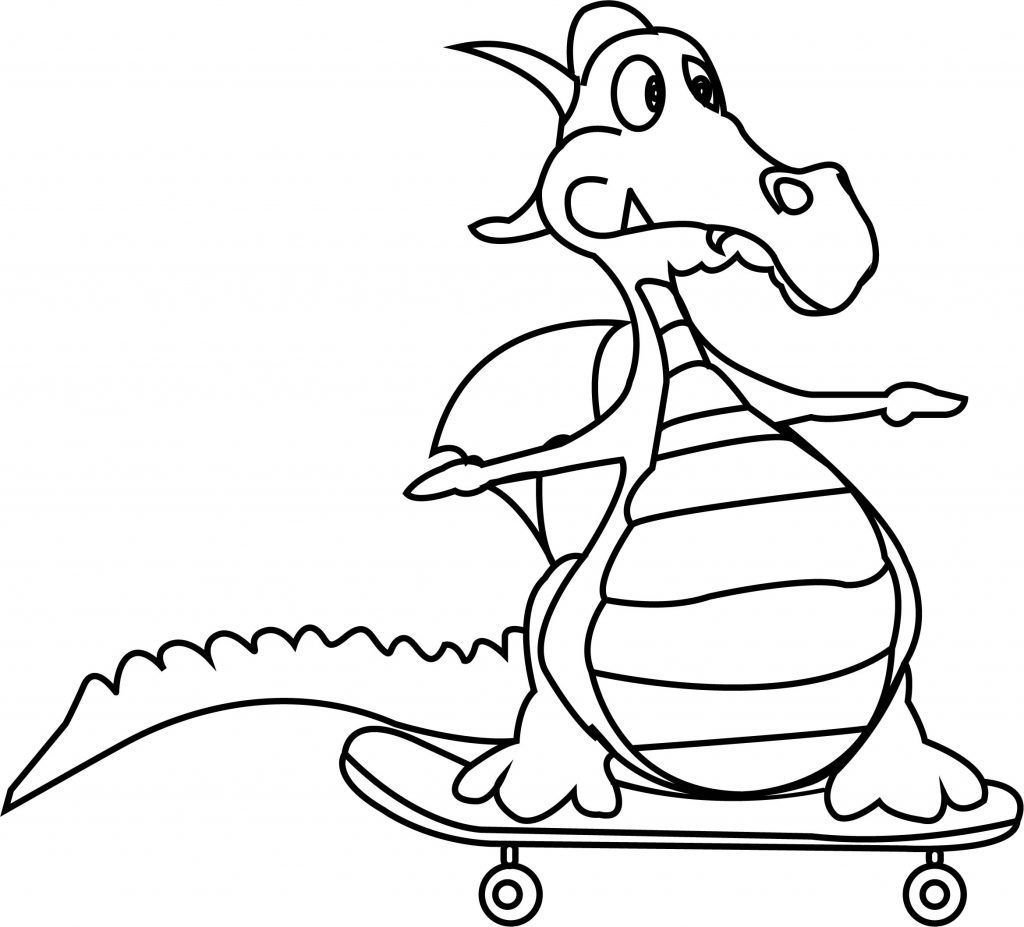 Free Printable Funny Coloring Pages For Kids Dinosaur Coloring Pages Coloring Pages Cartoon Dragon