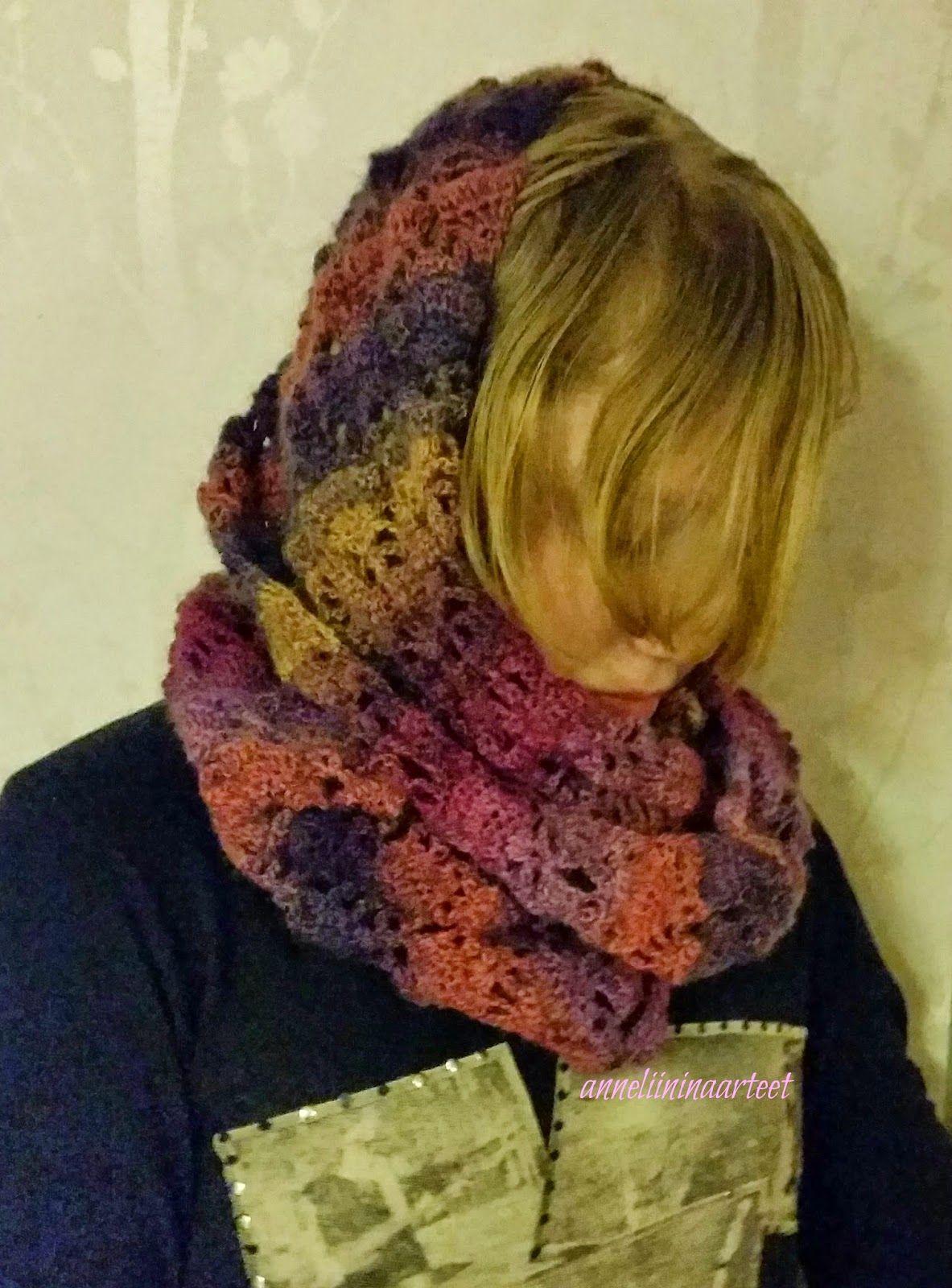 virkattu huivi - crochet cowl