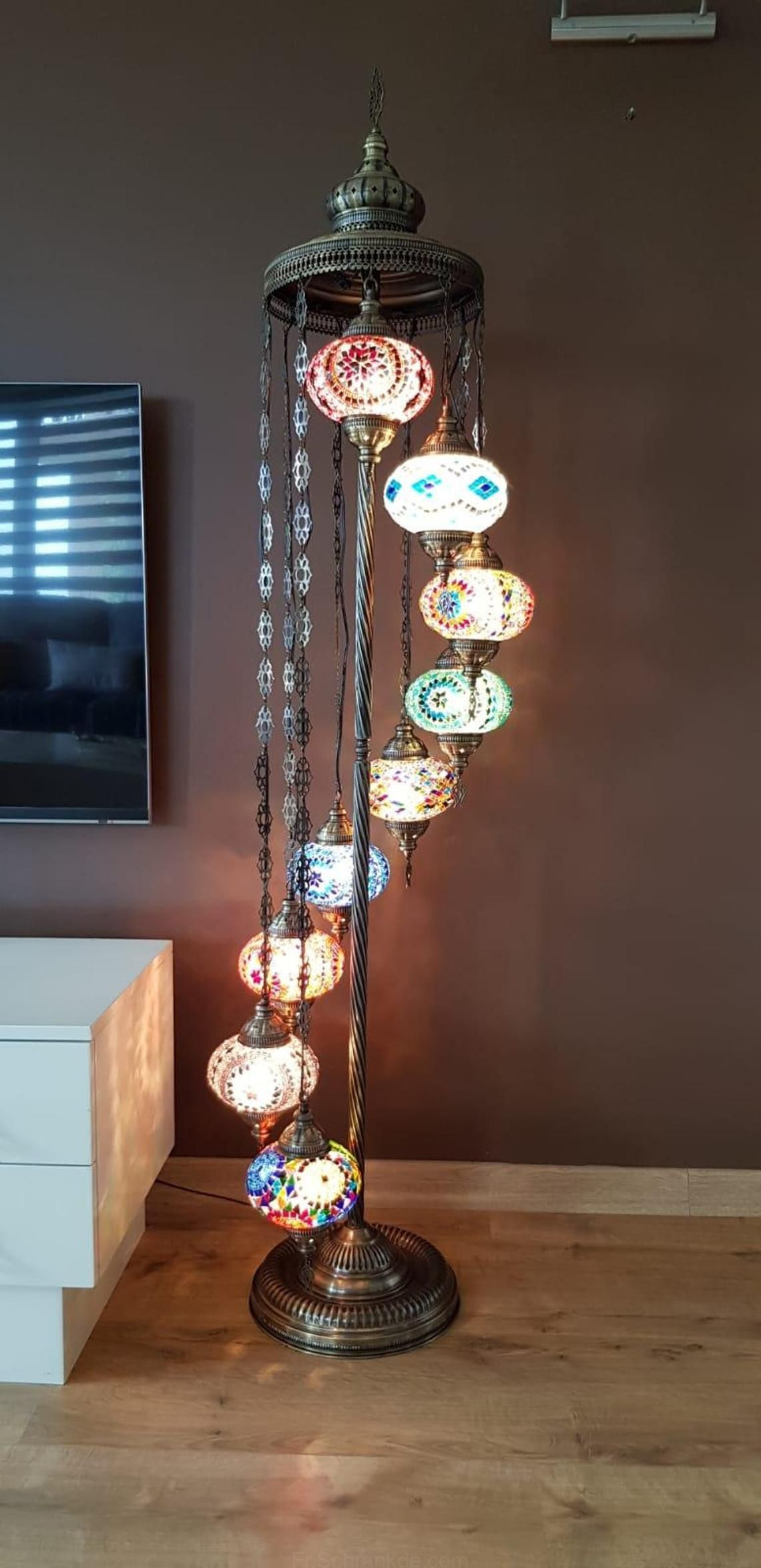 Personnalisable 70 9 Grands Globes Turc Lampe De Plancher Paypal Turc Marocain Sol En Mosaique De Lumiere De La Lampe Marocaine Lampe Mosaique Marocaine