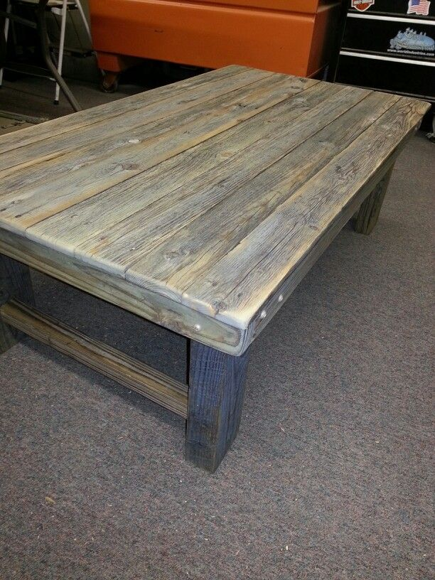 Barnwood coffee table. Kreg Jig is greatest invention. Ever ...