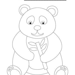 Full Page Outline Of A Panda Google Search Tree Coloring Page