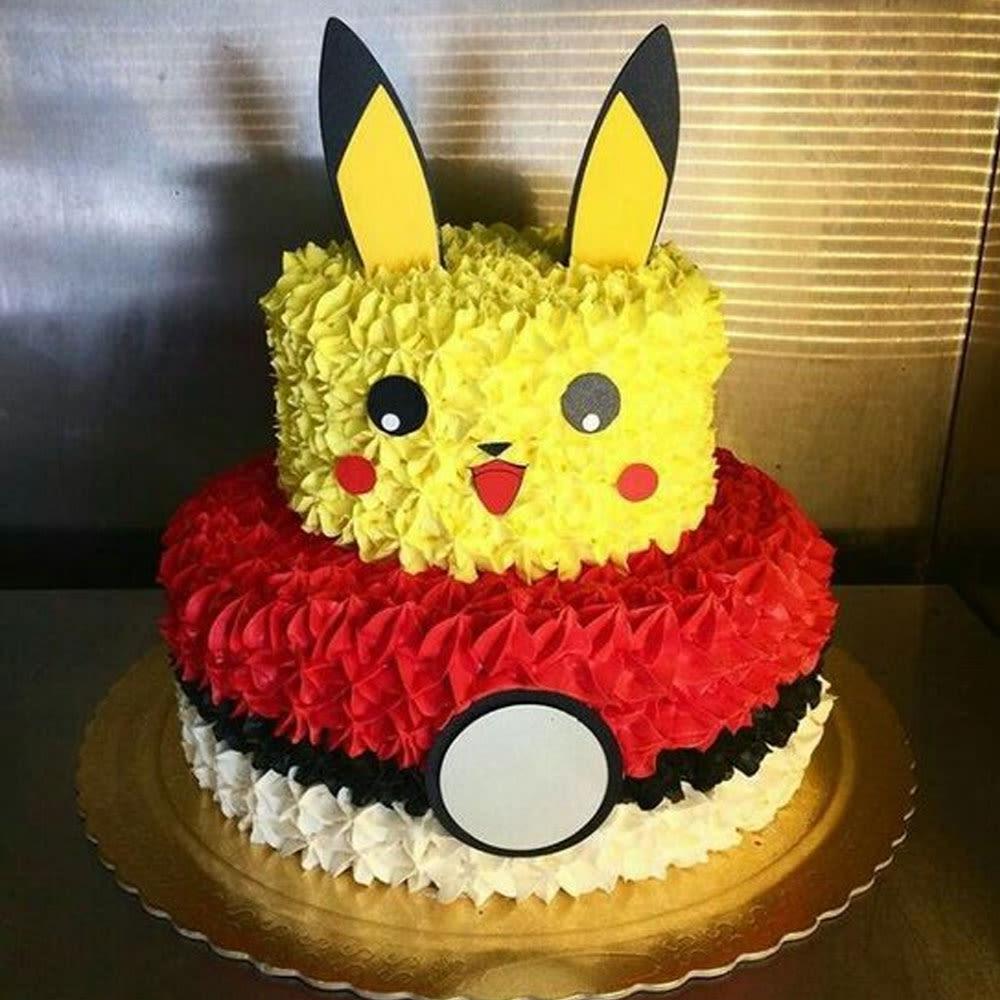 Gâteaux aufleger anniversaire tortenbild Crème Pokemon l9