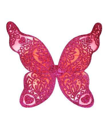 Loving this Fuchsia & Orange Small Flutter Wings on #zulily! #zulilyfinds