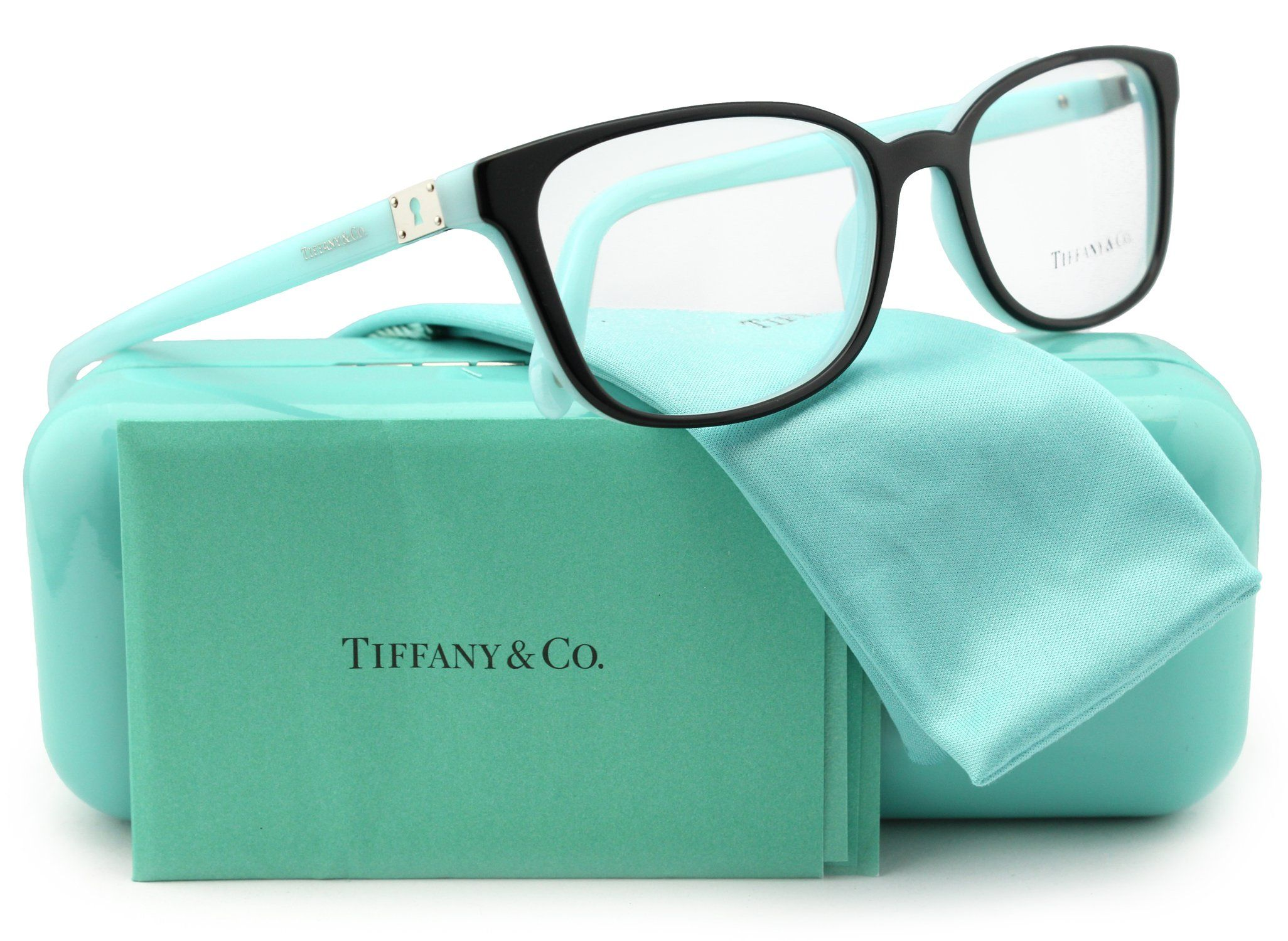 4b8e70bb94d0 Tiffany   Co. TF2094 Eyeglasses Top Black Blue (8055) TF 2094 8055 54mm  Authentic