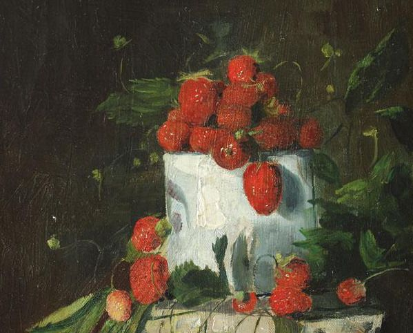 Strawberries, Octav Bancila, 1906.