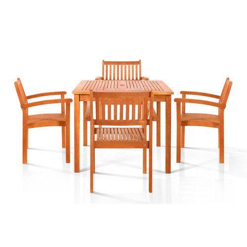 Vifah Hardwick 5 Piece Dining Set Dining sets, Walmart and Patios