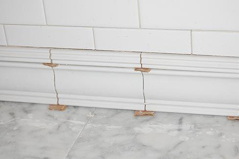 bathroom baseboard tile baseboard