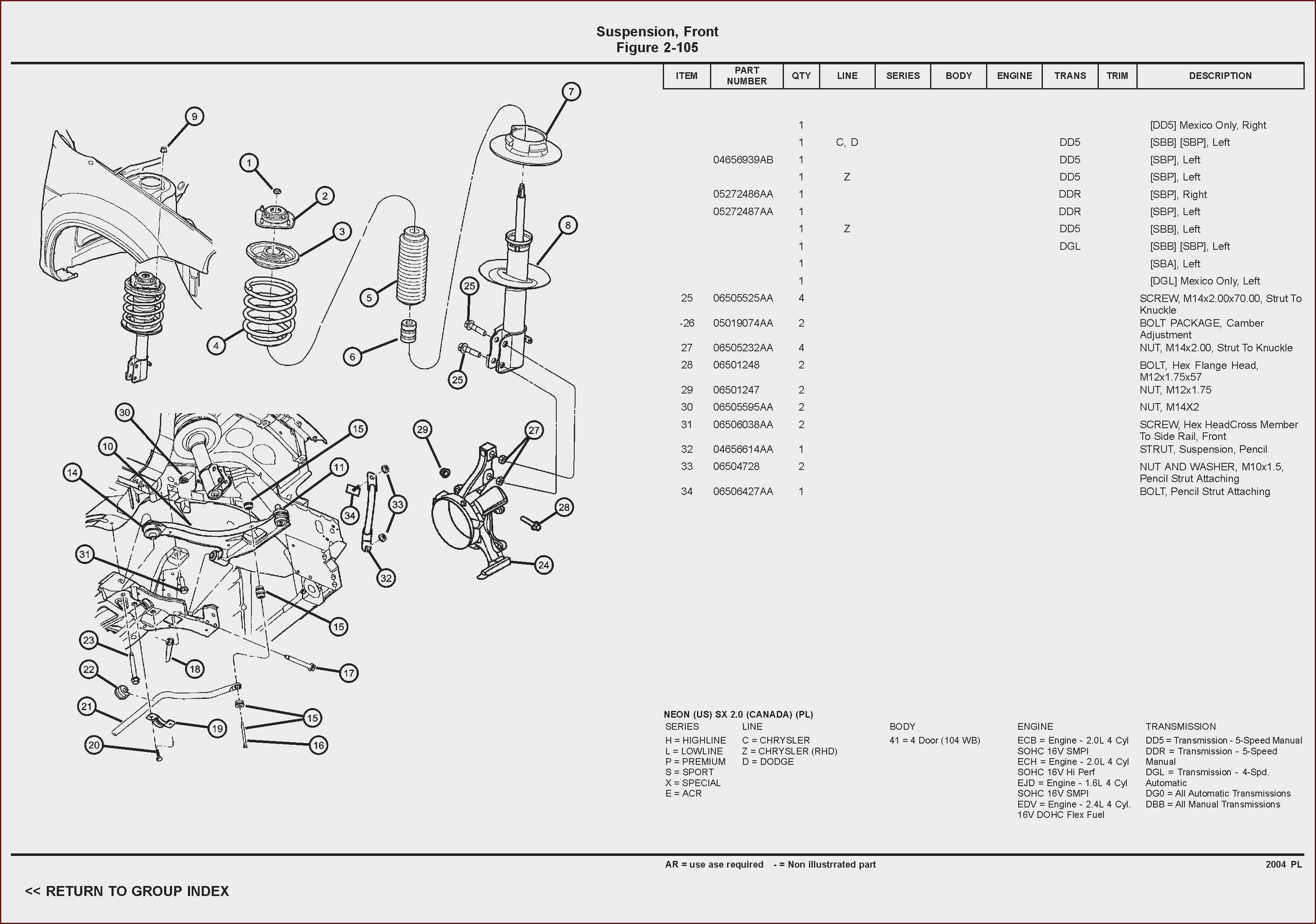 1998 Dodge Neon Engine Diagram Di 2020